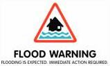 Flood warning symbol